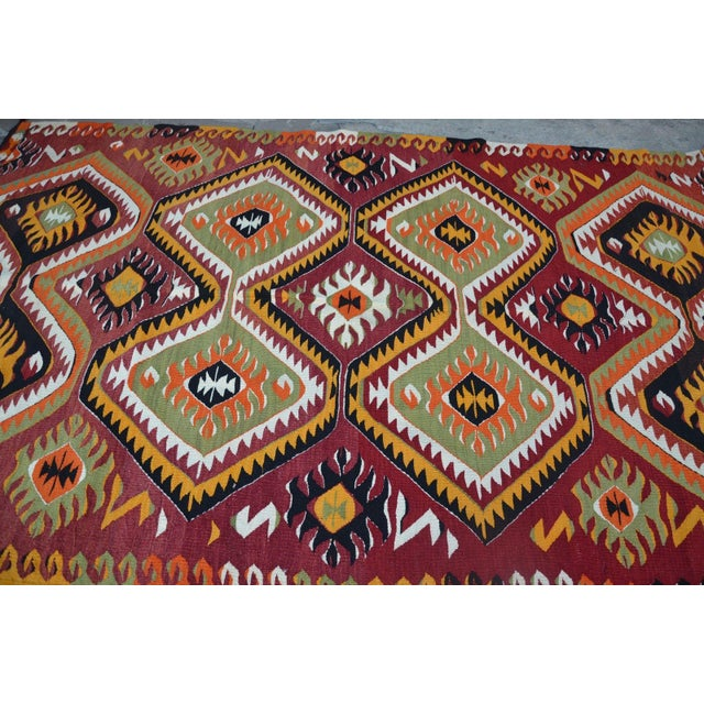"Turkish Kilim Wool Rug - 5'8"" x 10' - Image 4 of 6"