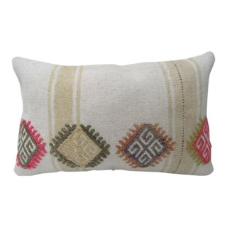 Vintage Turkish Handmade Embroidered Pillow Cover - 20ʺW × 12ʺH For Sale