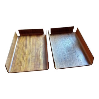 Mid Century Modern Mallod Office Trays - a Pair For Sale
