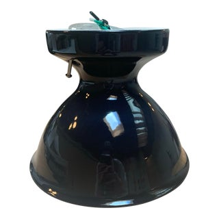 Mid-Century Modern Black Ceramic Alabax Fixture For Sale