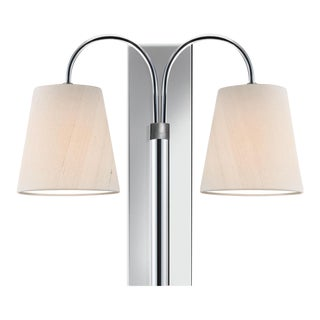 Shatersbury Double Wall Light in Polished Chrome For Sale