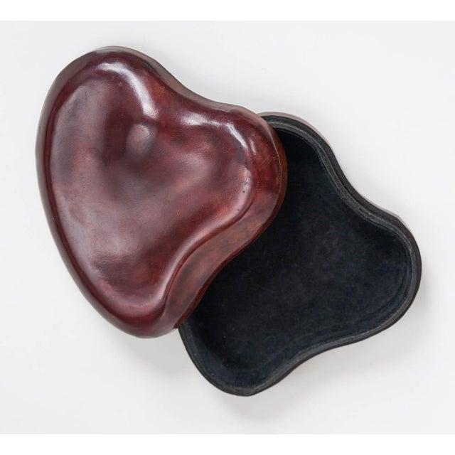 Elsa Peretti & Tiffany & Co. Elsa Peretti for Tiffany & Co. Leather Heart Box For Sale - Image 4 of 6