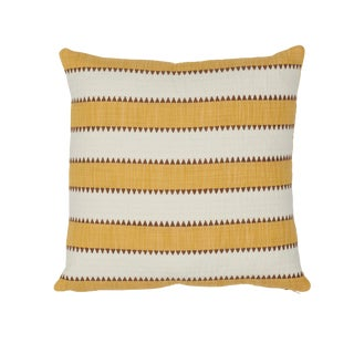 Contemporary Schumacher Isolade Stripe Pillow in Yellow