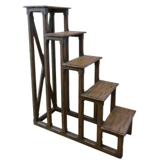 Rustic Century Furniture Wooden Display Ladder For Sale