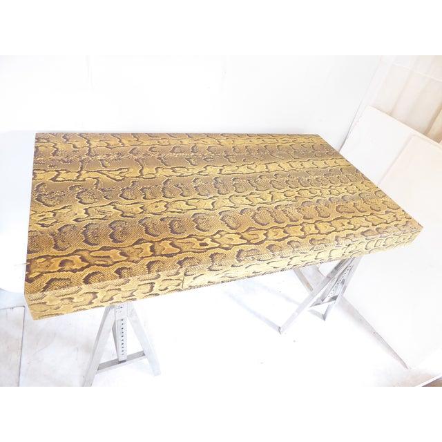 Modern Snake Skin Writing Desk For Sale - Image 9 of 10