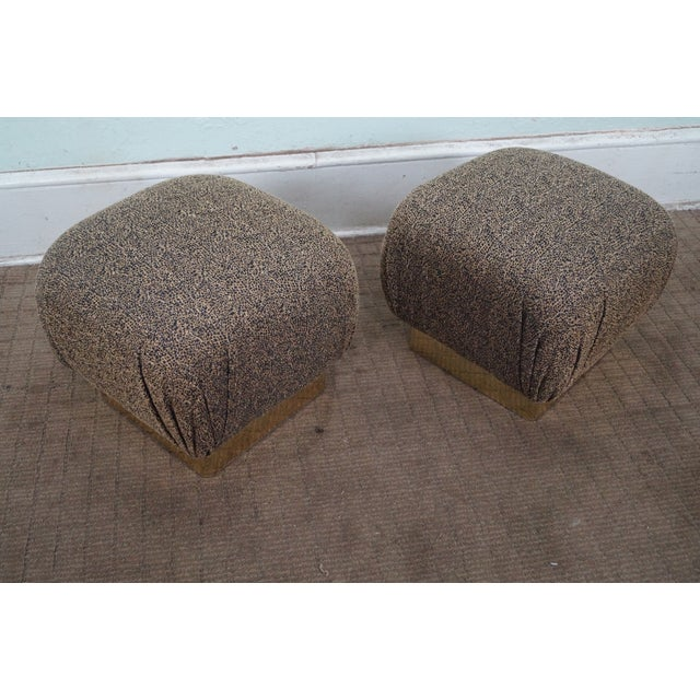 Karl Springer-Style Soufflé Ottomans - A Pair - Image 4 of 10