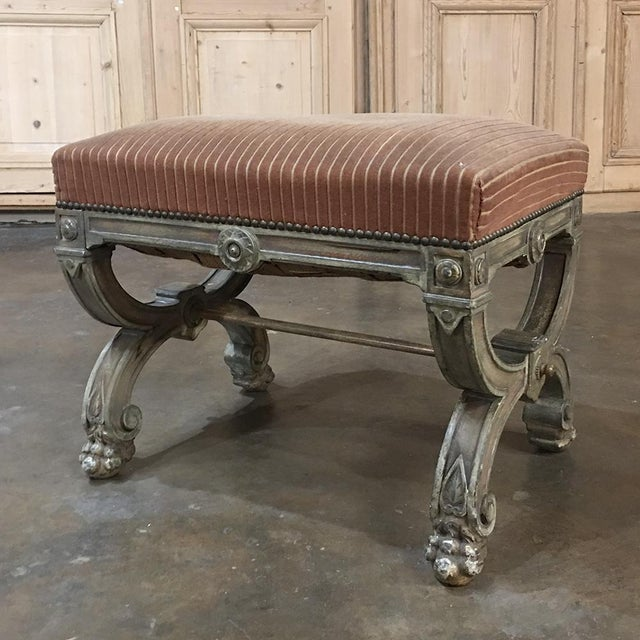 19th Century French Louis XIV Painted Stool For Sale - Image 11 of 11
