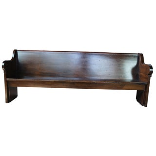 Early 20th Century Antique Victorian Church Pew Deacon Hall Bench Preview
