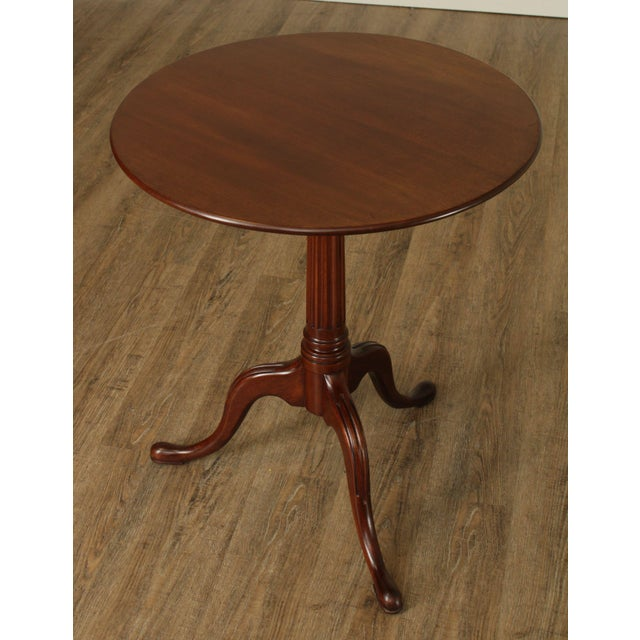 High Quality American Made Solid Mahogany Round Tilt Top Side Table by Biggs - Jefferson Reproduction Store Item#: 25295