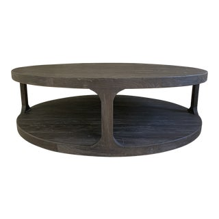 "Restoration Hardware ""Martens"" Round Coffee Table For Sale"