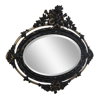 Antique French 19th Century Louis XVI Oval Mirror For Sale