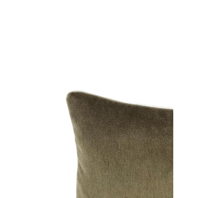 Contemporary F. Schumacher Palermo Mohair Velvet Thyme Lumbar Pillow Cover For Sale - Image 3 of 6