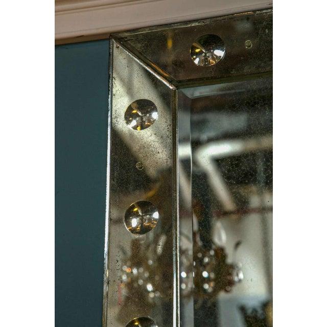 Bullseye Antiqued Framed Venetian Mirrors - Pair - Image 3 of 6