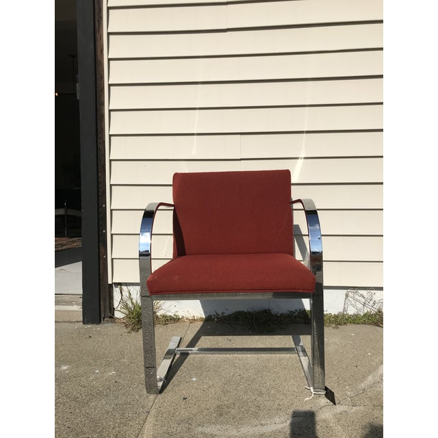 Metal Mies Van Der Rohe for Thonet Chrome Cantilever Arm Chair For Sale - Image 7 of 7