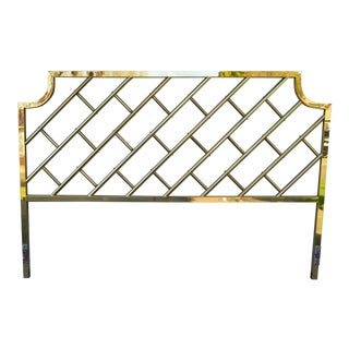 Chinese Chippendale Brass King Size Headboard