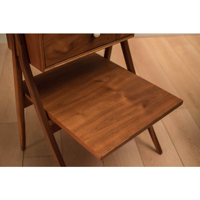 Wood Mid Century Walnut Floating Nightstands by Drexel Declaration For Sale - Image 7 of 13