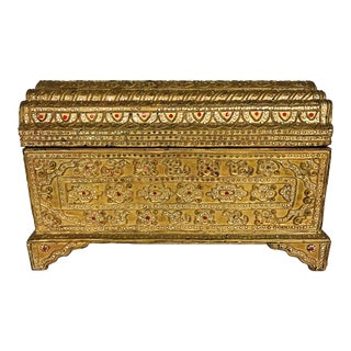 Giltwood Jeweled Box For Sale