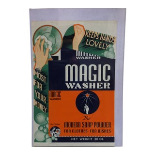 "1960s Vintage ""Keeps Hands Lovely"" Magic Washer Advertising Poster For Sale"