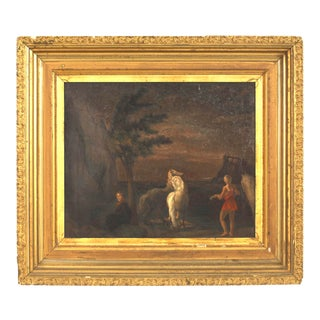 Italian Neo-Classic Landscape with Horses For Sale