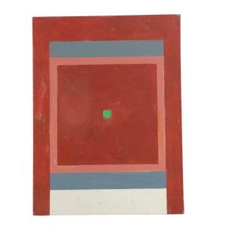 Vintage Hardedge Geometric Painting on Canvas For Sale