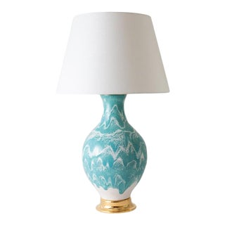 """Paul Schneider Ceramic """"Athens"""" Lamp in Drip Banded Briland Glaze For Sale"""
