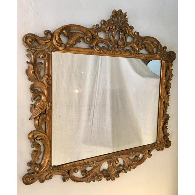 Gilt Finish Carved Italian Mirror - Image 3 of 11