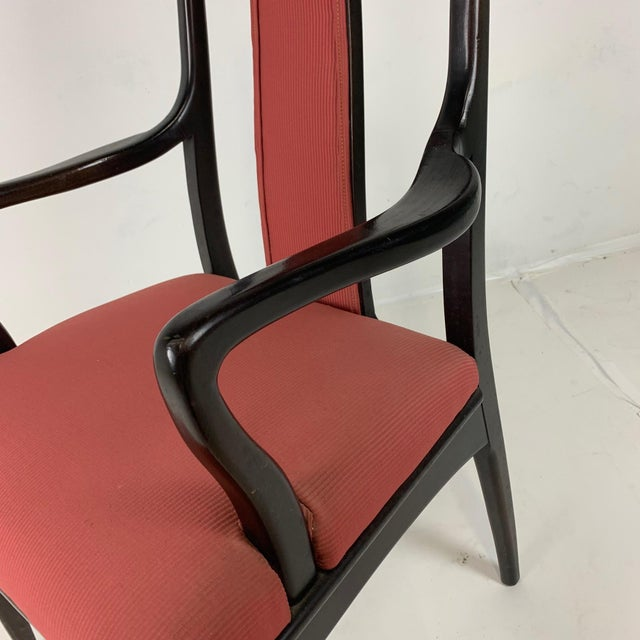 John Stuart Pair ofMahogany Parzinger Style Dining / Occasional Chairs by John Stuart For Sale - Image 4 of 12