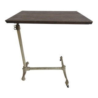 Antique Victorian Paw Foot Doctor's Work Table