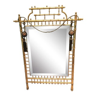 19th Century Empire Style Gilt Wood Wall Mirror