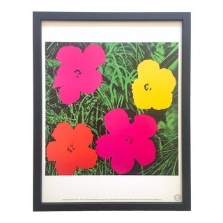"Andy Warhol Estate Vintage 1989 Framed Pop Art Lithograph Print "" Flower "" 1964 For Sale"