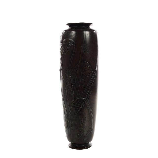 Late 19th Century Japanese Beautiful 19th Century Meiji Bronze Vase -Signed For Sale - Image 5 of 8