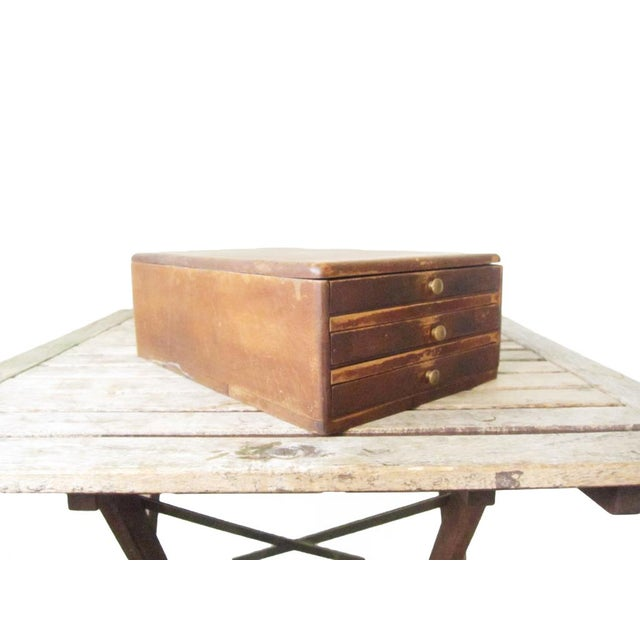 Vintage Watchmakers Wood Drawer Cabinet - Image 7 of 11