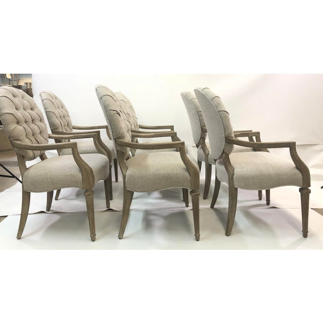 Contemporary Tufted Upholstered Armchair For Sale - Image 4 of 9