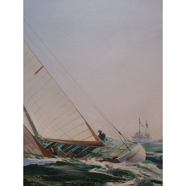 Kipp Soldwedel -Victory 1974 -Sailing Yacht - Original Oil Painting For Sale - Image 4 of 10