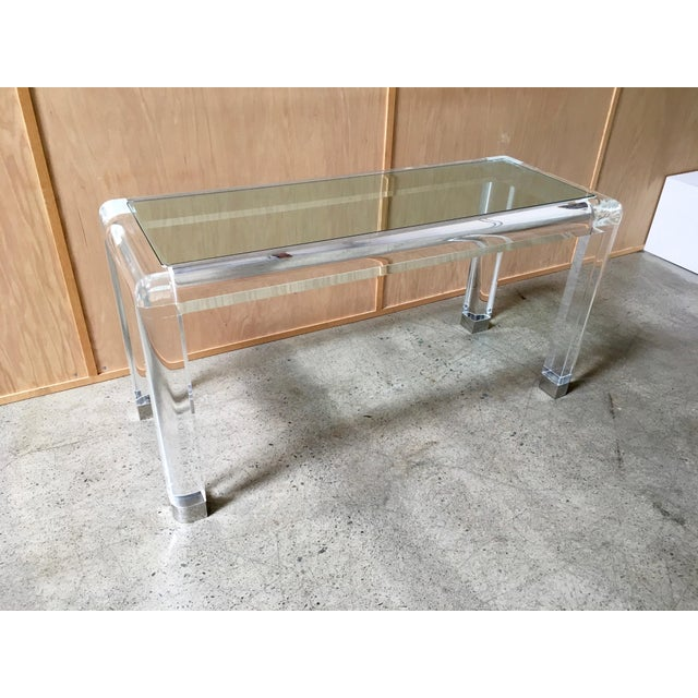 Mid-Century Modern 20th Century Lucite Console Table For Sale - Image 3 of 13