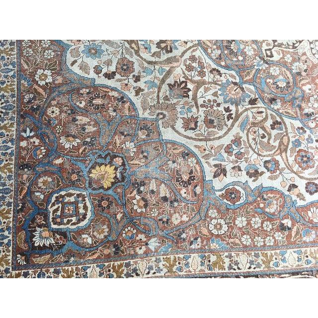 "Persian Rug Los Angeles: Antique Worn Out Persian Tabriz Rug ""Haji Jalili Style"
