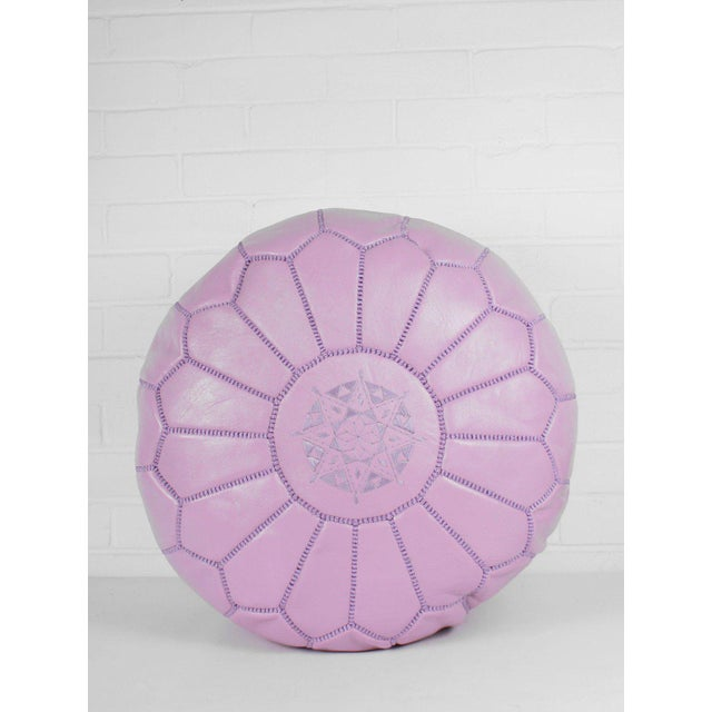 2000 - 2009 Modern Moroccan Vintage Pink Pouf For Sale - Image 5 of 5