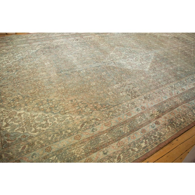 "Vintage Distressed Bibikabad Carpet - 9'5"" X 18'2"" For Sale - Image 9 of 13"