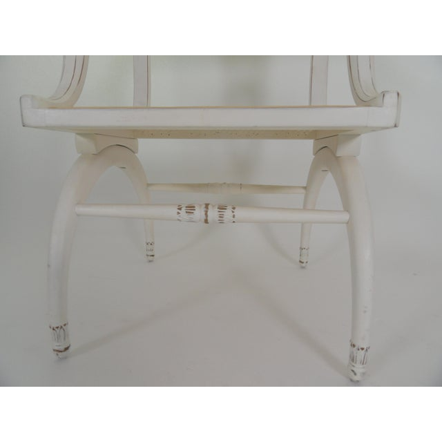 1970s Vintage Regency Style Cane Seat Chair For Sale In West Palm - Image 6 of 9