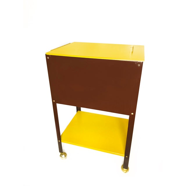 1970s 1970s Mid-Century Modern Wp Johnson Hanging Filing Cabinet on Wheels For Sale - Image 5 of 5