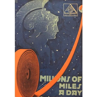 1917 American Advertisement, Alexander Belts, Millions of Miles a Day For Sale