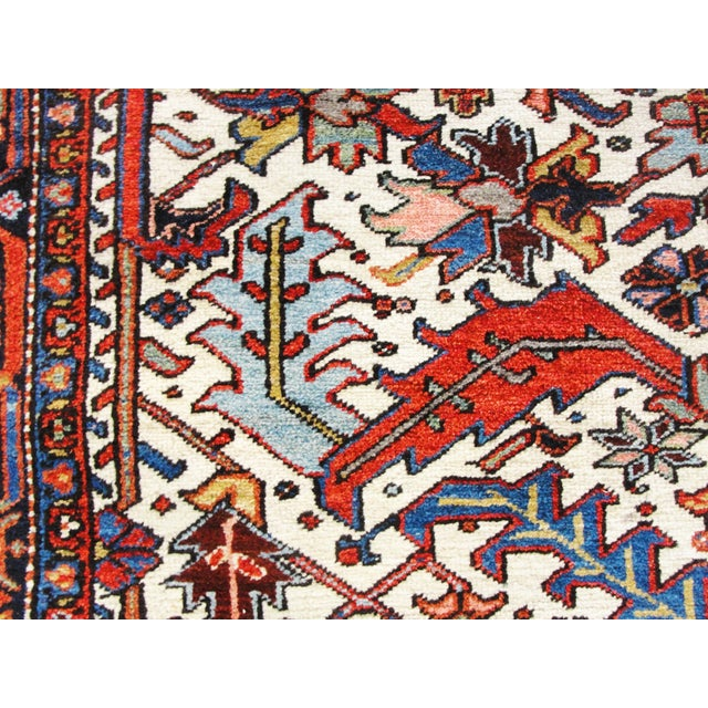 Early 20th Century Antique Heriz Tree of Life Rug For Sale - Image 5 of 8