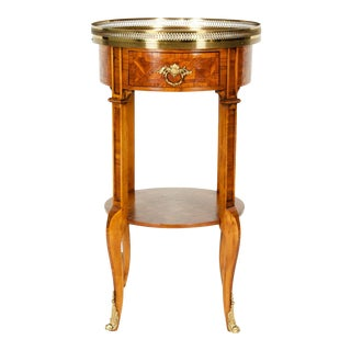Early 19th Century Mahogany / Gilt Bronze Side Table For Sale