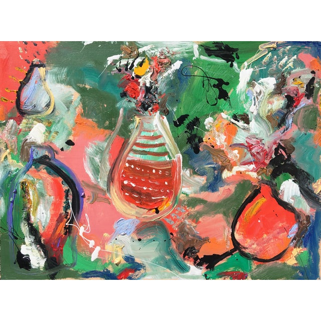 'Flower Pots' Abstract Oil Painting by Sean Kratzert For Sale