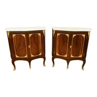 Pair of Louis XV Style Cabinets Commodes or Nightstands For Sale