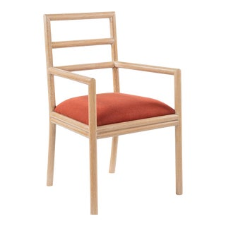 Varenne Arm Chair in Red For Sale