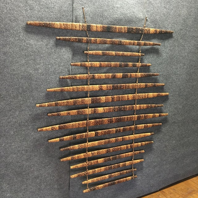 Braided Wood Wall Art Piece - Image 2 of 5