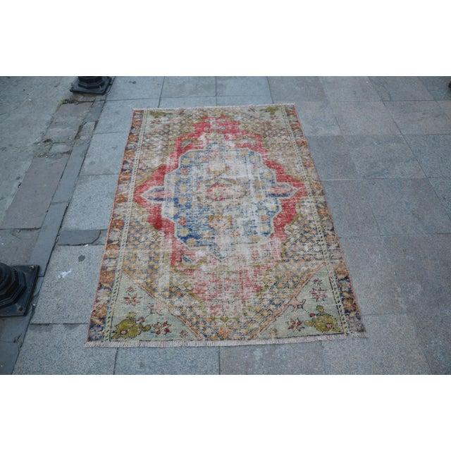 "Handmade Anatolian Tribal Rug -- 3'9"" x 5'3"" - Image 2 of 6"
