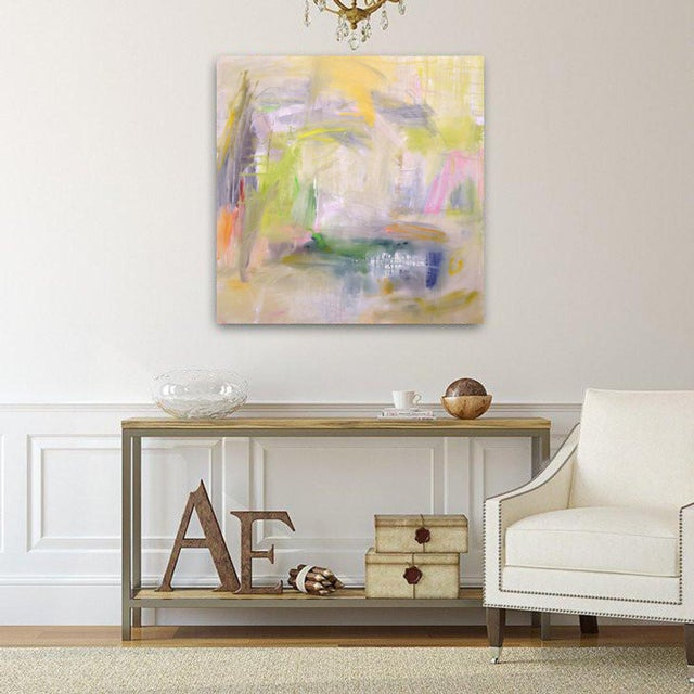 """Misty Morning"" is a subtle and yet bold abstract expressionist oil paintings by one of the top-selling Chairish artists,..."