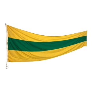Vintage XL Sewn Cotton Nautical Signal Flag For Sale